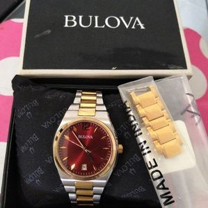 Beautiful two tones bulova watch